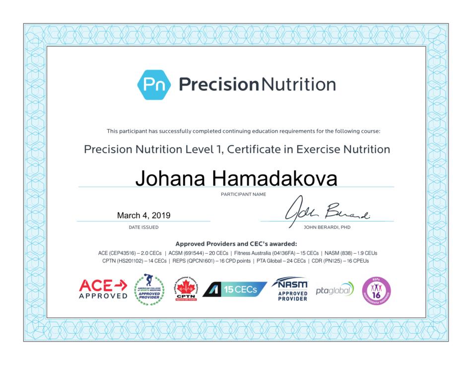 Advance TrainingJohana Hamaďáková | Advance Training